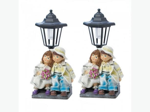 Cute Kids Lamp Post Pathway Solar Light Set of 2 Brand New