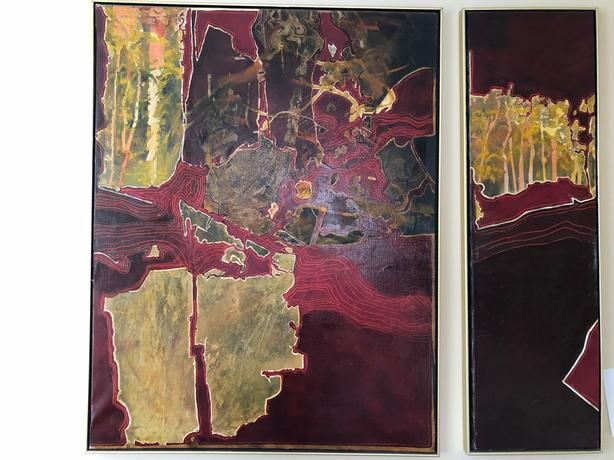 Large Painted DipTych