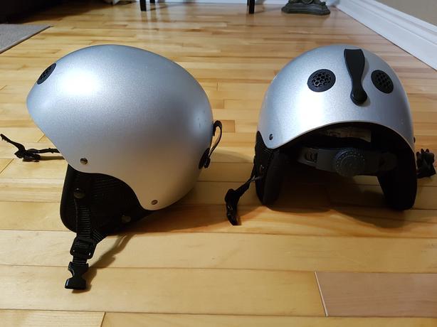 2 kids helmets
