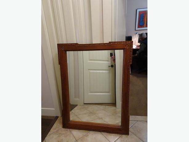 Mirror with Hand carved Teak Frame from Indonesia