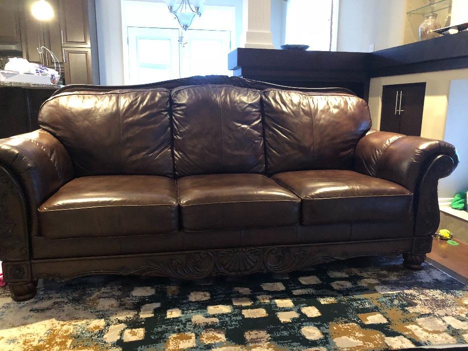 Beautiful Look Top Grain Leather Couch East Regina Regina