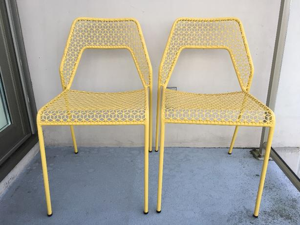 Pair Of Blu Dot Hot Mesh Chairs