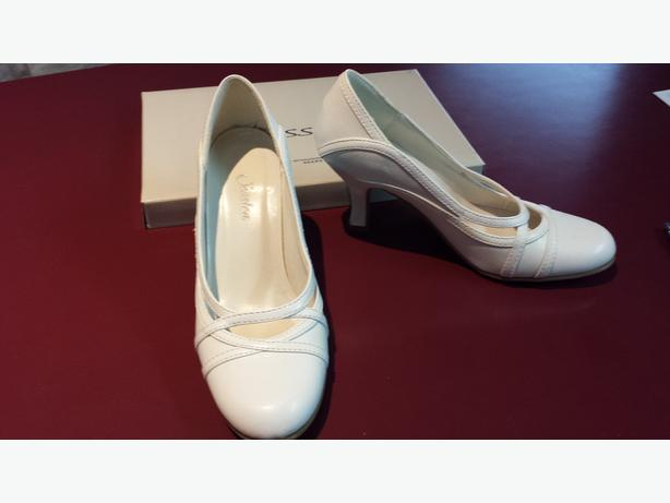 New white Jessica high heels