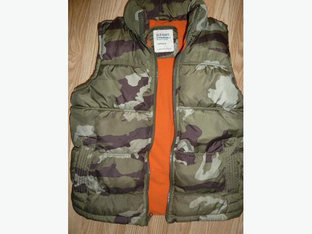 b3c17c1654eed puffer vest camo Boys age 10-12 Saanich