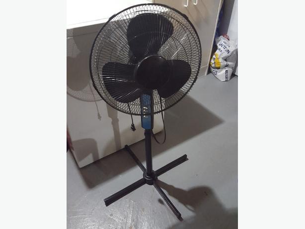 Black Stand Up Fan