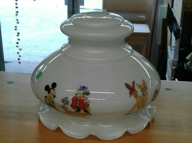 Reduced from 65 vintage glass disney lamp shade west shore reduced from 65 vintage glass disney lamp shade mozeypictures Images