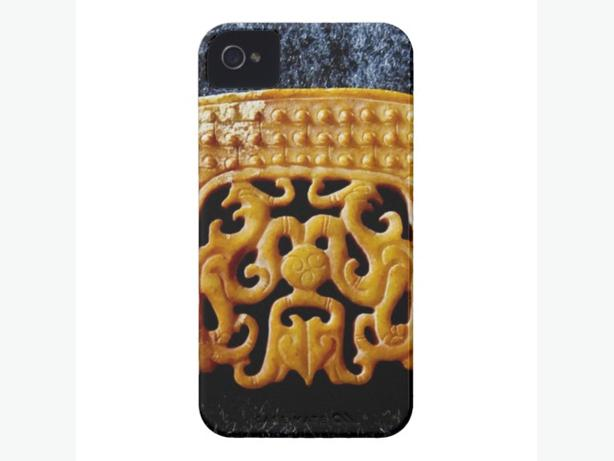 Jade Collection, Archaic Chinese Jade iPhone 4 Case, NEW