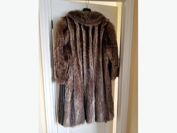 Winter raccoon fur Coat Good Condition $49