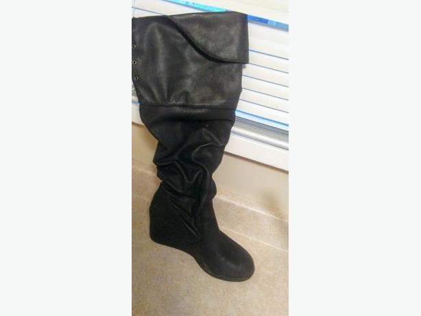 size 8 wedge heels boots