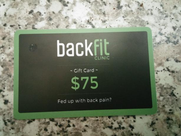 Backfit gift card