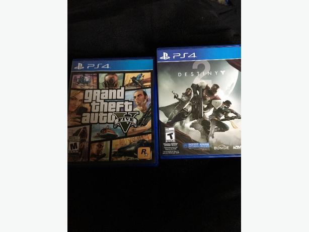 PS4 Destiny 2 and Gta 5