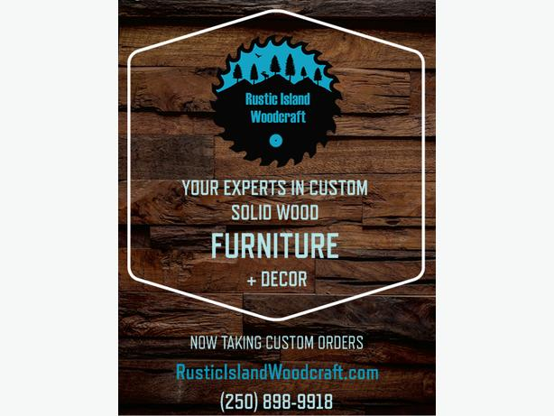 Rustic Island Woodcraft is Now Accepting Custom Orders