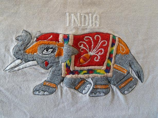 beautiful embroidered elephant  patch