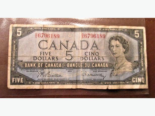 1954 $5 Bank Note