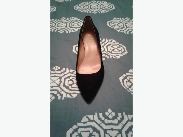 04e8a64508f J. Crew Women  39 s Dulci Black Suede Leather Kitten Heels Shoes 9 ...