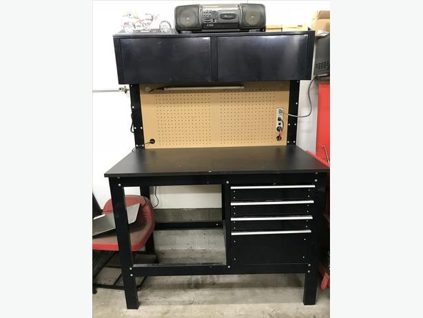 Metal shop desk