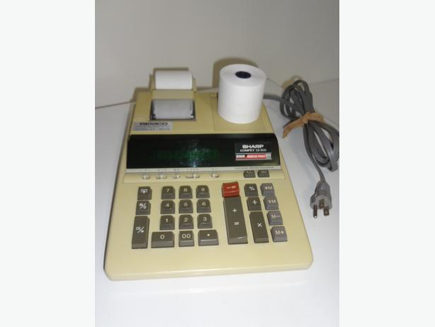 Vintage Sharp Printer Calculator Machine