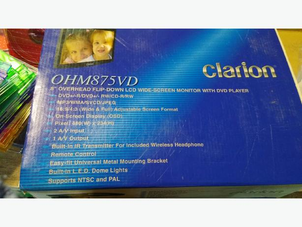 *REDUCED* NEW Clarion Flip down DVD player for vehicle