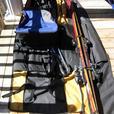 K2 axis ski 160 cm, two sets of ski poles, ski bag, boots bag