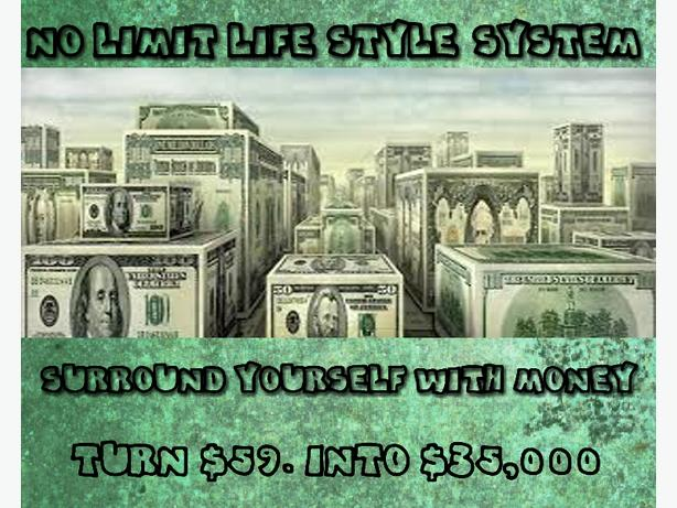 NO LIMIT LIFESTYLE SYSTEM - AN EASY WAY TO TURN $59.00 INTO $35,000