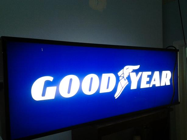 Goodyear Tire double sided lighted Sign