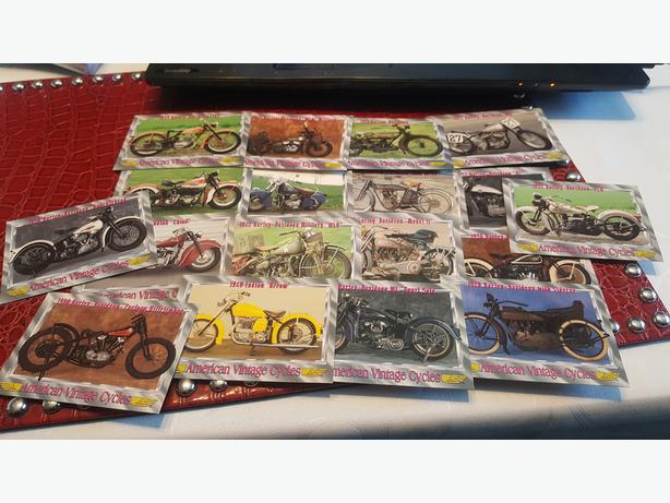 AMERICAN VINTAGE CYCLES 18 CardS HARLEY DAVIDSON