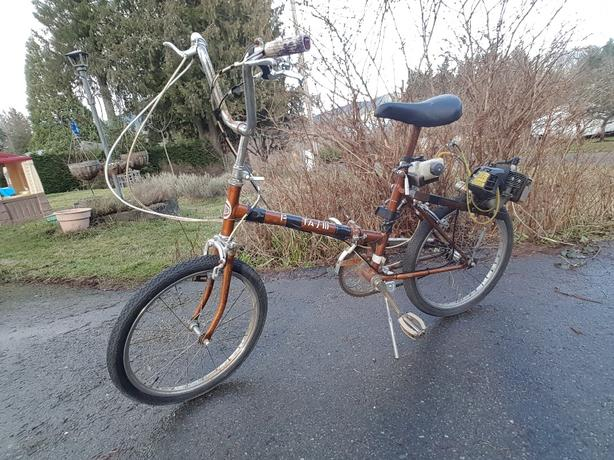 Folding bike with weedeater engine