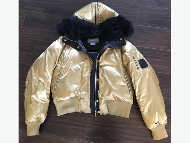 Nike Gold Limited Edition Down & Feather filled bomber jacket