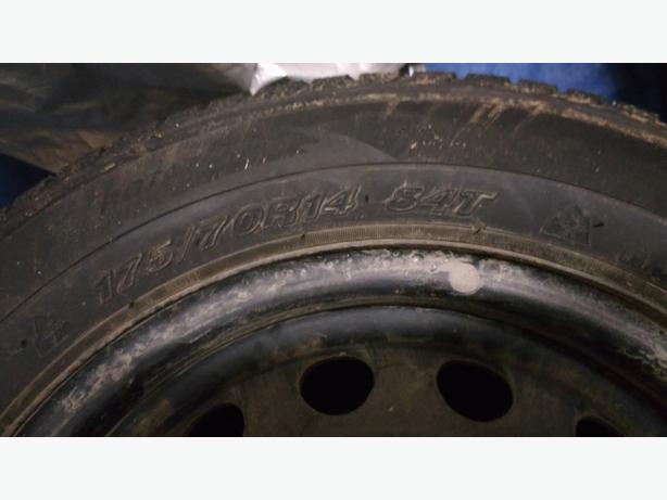 175/70r14 M+S Winter tires