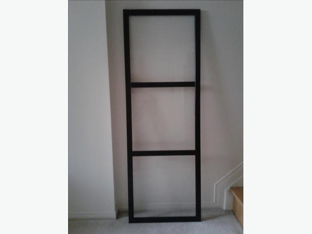 Ikea dark brown wood and glass door. Best offer.
