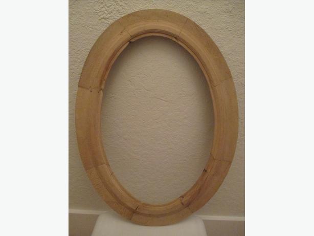 Antique Oval Wooden Frame