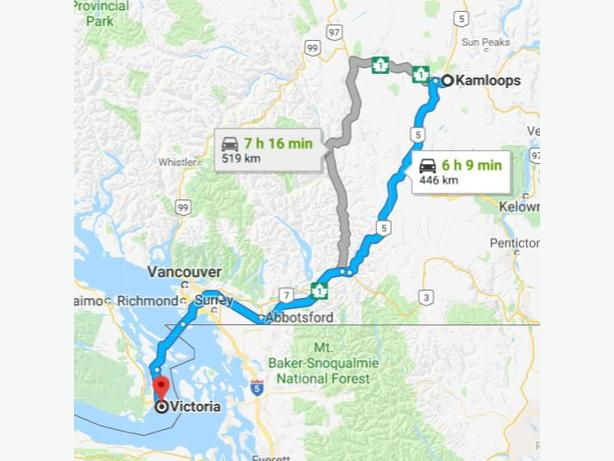 Driving from Kamloops to Victoria? Why not deliver 4 tire