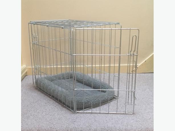 "Stainless Steel Wire Frame Dog Crate 24"" L"
