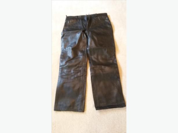 men's leather motorbike pants