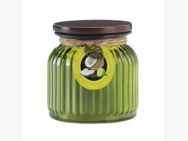 Ribbed Jar Candle with Lid 5 Lot Coconut & Lime Scented