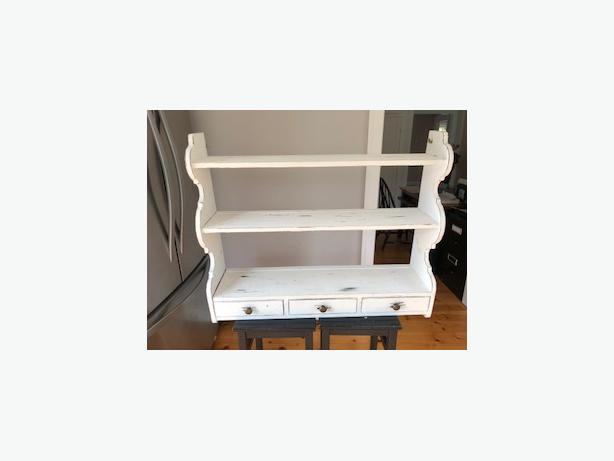 Shabby Chic White Shelf