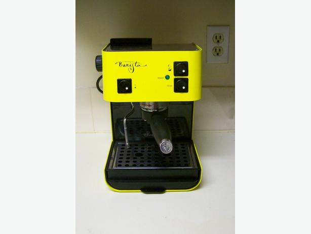 Yellow Starbucks Barista Espresso Machine, As Is
