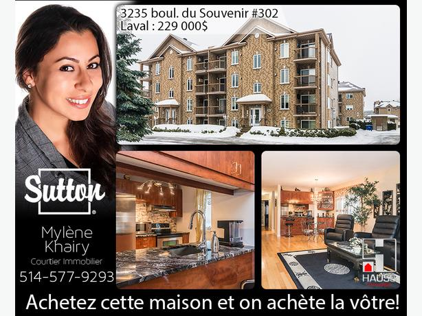2 bedrooms Condo, turn key ready, in the hearth of Laval