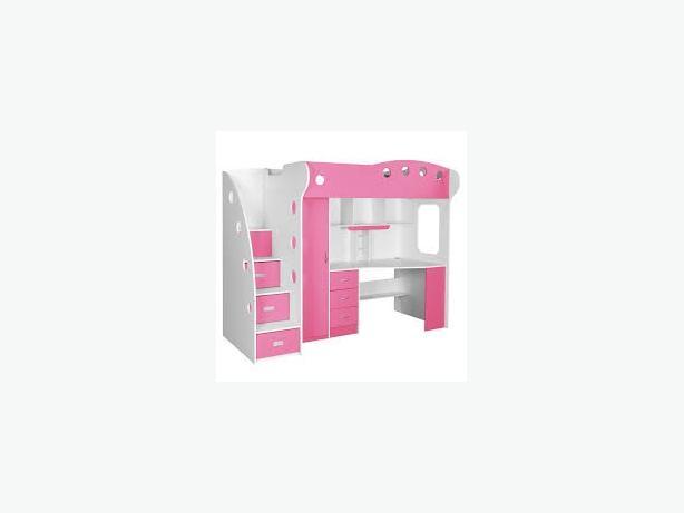 Pink Loft Bed