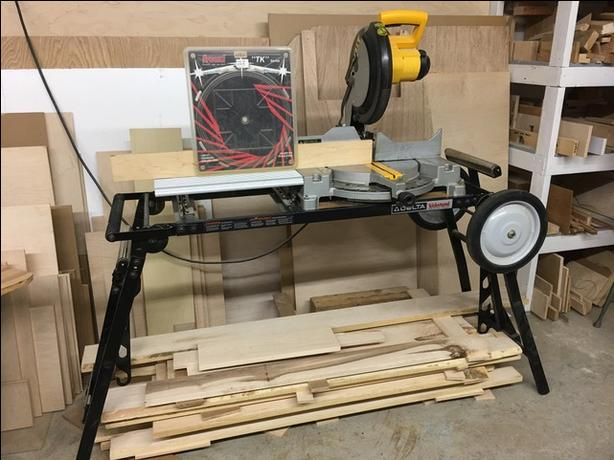 "DeWalt 12"" Miter Saw & Delta Portable Workstand"