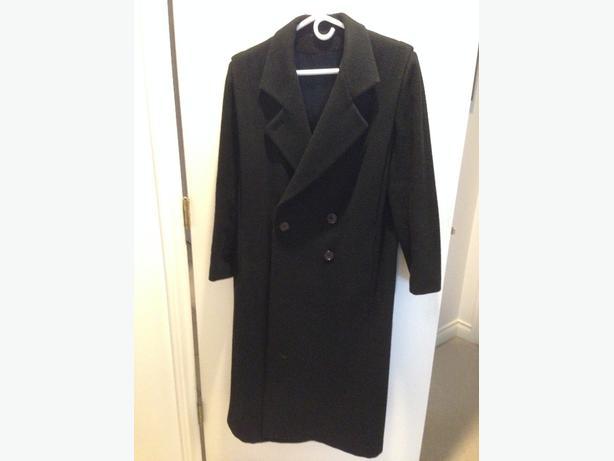 Ladies Long Wool coat - black