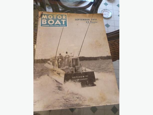 """Antique September 1951 """"Motor Boat"""" Magazine"""