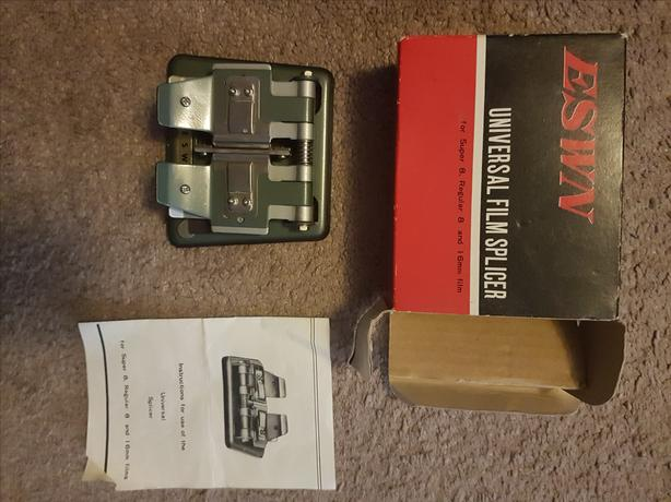 ESWN Vintage Universal Film Splicer for Super 8 & Regular 8 & 16mm