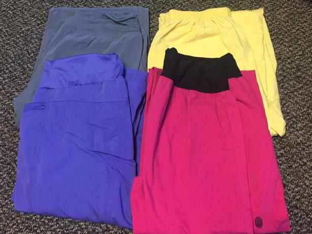 4 pairs of scrub pants