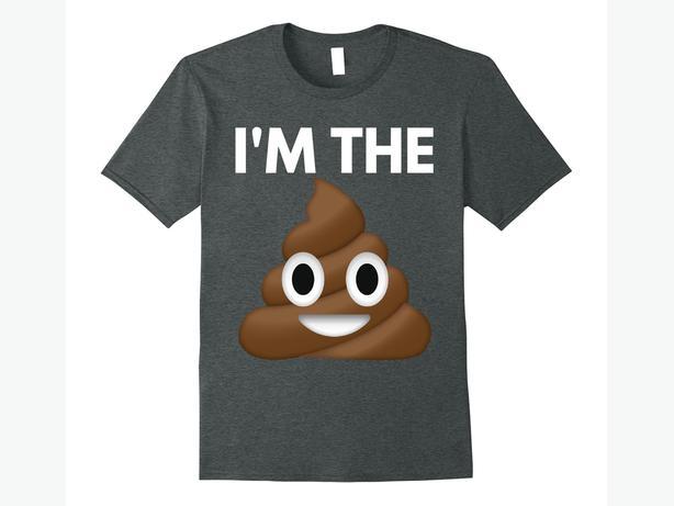 Poop Emoji Shirt - 5 Sizes - I'm The Sh't Tee - Funny Shirt Kids Men or Women