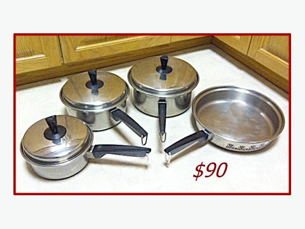 Stainless steal pot set