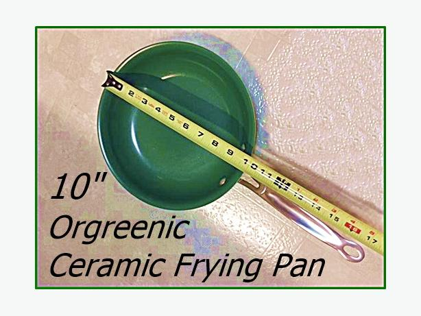 Orgreenic Ceramic Frying Pan 10""