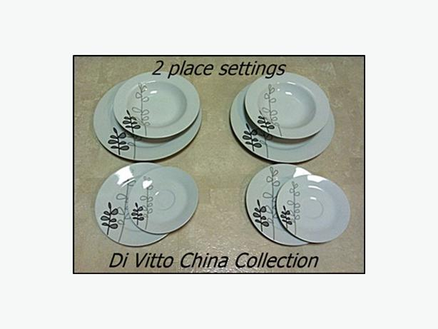 2 Place Setting of Dishes - Di Vitto China Collection