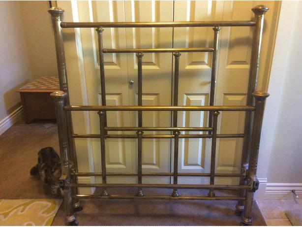 Antique brass bed from early 1900's