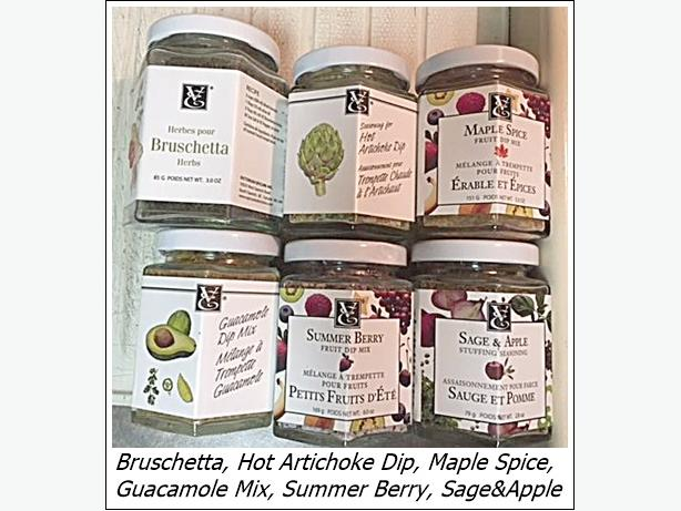 Epicure Spices (open - almost full) $6 each or $50 for all